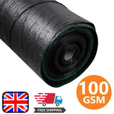 More details for heavy duty weed control fabric mat sheet garden ground landscape weed membrane