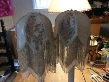 Vintage Lamp Shades with Tassels(2)