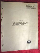John Deere 490 Corn Planter Parts Catalog Manual Pc-118