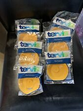6 X New Single Package Yellow Travel lids 16 oz Tervis Tumbler No Spill Drink