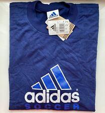 *TOP* ADIDAS - SOCCER TEE - 626697 - XXL, T-Shirt, Basic, Training, Logo - blau