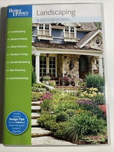 Better Homes Gardens Landscaping and Deck Designer 8.0 8 PC Plants Design T1