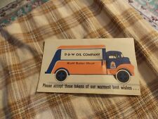 Vintage D&W OIL COMPANY Gulf Solar Heat SEWING NEEDLE SET Paper Advertisement VG