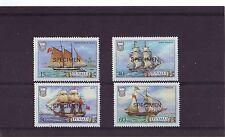 TUVALU - SG377s-380s MNH 1986 SHIPS 3rd SERIES OVPT SPECIMEN