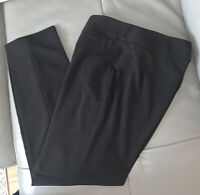 White House Black Market Legacy Pants Size 10R Black Flare Leg Dress Trousers