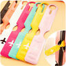 Colorful PU Travel Bag Trip Luggage Suitcase Name Holder Label ID Tags FO