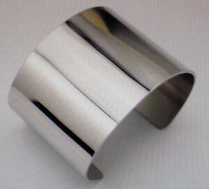 Damen Edelstahl Armreif Breit - Schlicht Edel - Steel - Farbe Silber 2047