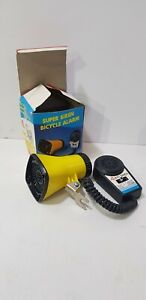Vintage Super Siren horn with microphone Chopper Bicycle Alarm 3 sounds Taiwan