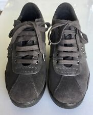 Geox grey suede wedge trainer with embellishment size 6