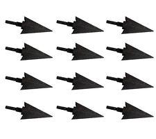12x 100grain Metal Arrow Head Broadhead Hunting Arrowhead Archery Recurve Bow