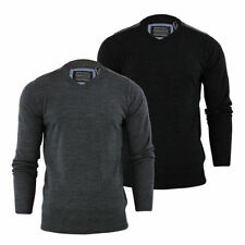Brave Soul Men's Regular V Neck Acrylic Jumpers & Cardigans