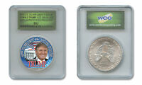 DONALD TRUMP 45th PRESIDENT 2016 1 OZ. American Silver Eagle in SPECIAL HOLDER