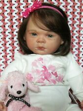 Reborn Toddler ,micro rooted  human hair and eye lashes ,Aspen Rose! RARE! HTF!