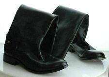 K29 MSRP $348 Women's Size 9B Frye Melissa Tab Black Distressed Leather Boots