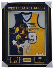 Nic Naitanui Signed West Coast Eagles Impact Signed Official AFL Jumper Framed