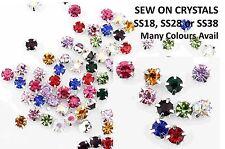 CraftbuddyUs Sew on Cut Glass Crystal Rhinestone Diamante Dress Making Craft diy