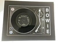"""David Bowie - Heroes V-2 Schneider - Genuine 7"""" Mounted on Record Player"""