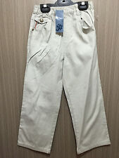 BNWT Boys Sz 6 YCC Designer Grey Elastic Waist Chino Style Jeans Cargo Pants