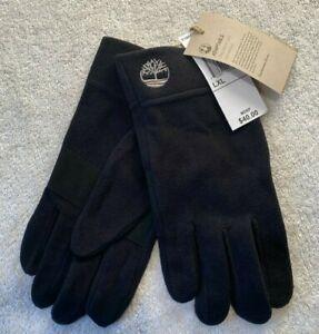 Timberland Mens Fleece Touch Screen Gloves Black Size L / XL rrp $40