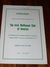 RARE IRISH WOLFHOUND CLUB OF AMERICA DOG SHOW CATALOGUE BOOK MAY 20TH 1966