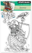 "Stempel ""Journey"" Penny Black, Piratenmädchen im Segelboot"