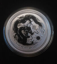 2012 1 oz .999 Fine Silver Australian Year Of The Dragon Coin