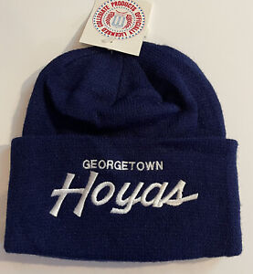 Vtg Sports Specialties Script Georgetown Hoyas Beanie Hat NCAA 80s Cap