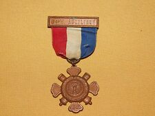 VINTAGE 1883 S of V SONS OF CIVIL WAR VETERANS AUXILIARY MEDAL & RIBBON PIN