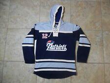 Patriots Tom Brady NFL Players Pullover Hoodie Sweatshirt Hockey Style XL