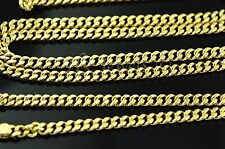 18k solid yellow gold flat curb link chain necklace 8.80 grams 22 inches #2315