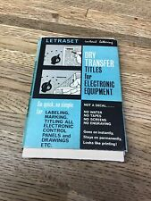 Vintage LETRASET Dry Transfers Titles   Electronic  Equipment USED LL4