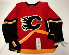 CALGARY FLAMES - size 56 = sz XXL - ADIDAS NHL HOCKEY JERSEY Climalite Authentic