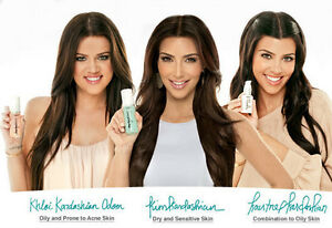 3Pk Perfect Skin Kardashian All Type Cleanser Toner Repair Protect Face 50ml 30m