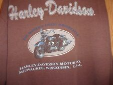 Harley Davidson Milwaukee Wisconsin USA brown 3 button pullover M jersey