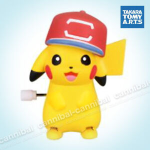 ~ POKEMON - white knob windup walker - Takara Tomy gashapon - wind up PIKACHU (f