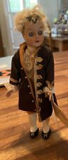 Vintage Male Davic Dolls Williamsburg Townfolk Doll With Tag Colonial Dress