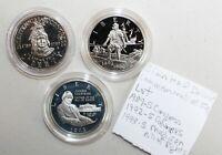 3 Coin Lot 1989-1993 S Proof Half Dollar Commemorative Coins 50c US K120