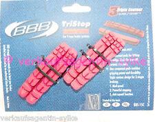 BBB TriStop BBS-15C Fahrrad - Bremsbelege 4 Stück austauschbare Bremsbelege. NEU