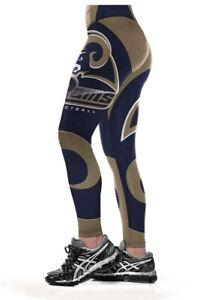 Women Legging Los Angeles Rams Digital Print High Waist Wide Belt Yoga Pants