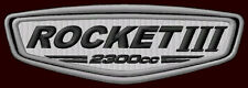 "TRIUMPH ROCKET III 2300CC EMBROIDERED PATCH ~5""x 1-3/4"" ROADSTER MOTORCYCLE GAS"