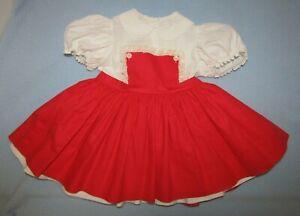Vintage Doll Madame Alexander Playpal Type DRESS Tag Joanie Janie 1959 -1960s