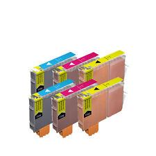 6 COLOR Premium Ink Set for Canon Series CLI-221 MX860 MX870 MP980 MP990