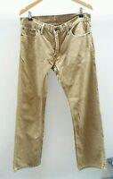 "Levi's Beige Trousers Size 34"" <J2012"