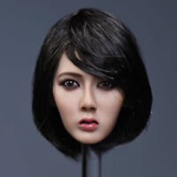 "YMTOYS 1/6 Asia Female Head Sculpt Model Short Black Hair For 12"" Figure Body"