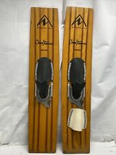 """Vintage Northland Chuck Stearns Trixter , Trick Wood Water Skis, 44"""" X 10"""""""