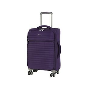 IT Luggage The Lite Quilte Petunia Plum Expandable 56cm 8 Wheel Small Suitcase
