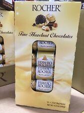 Ferrero Rocher Fine Hazelnut Chocolate 12 PACKS x 1.3oz packs 15.6oz total