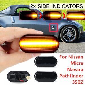 Dynamic Side Marker Indicator Light For Nissan Navara D40 350Z Qashqai