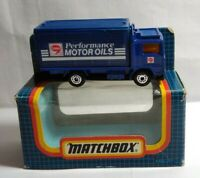 MATCHBOX 1987 DIECAST VOLVO CONTAINER TRUCK - COMMA MOTOR OILS - MB-20 - BOXED