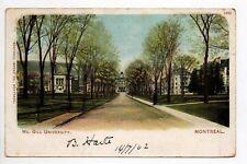 CANADA carte postale ancienne MONTREAL mc gill university
